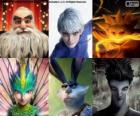 Characters from Rise of the Guardians