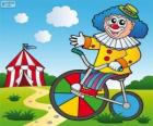 Clown a bicycle