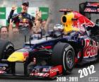 Sebastian Vettel, F1 World Champion 2012 with Red Bull Racing, is the youngest three-time champion