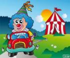 Clown in car
