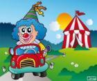 Clown in car