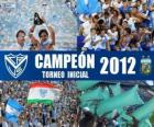 Vélez Sarsfield, champion of the Torneo Inicial 2012, Argentina