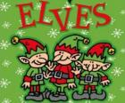 Three little elves of Santa Claus