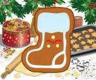 Santa Claus boot biscuit