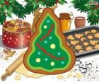 Christmas tree, a Christmas cookie