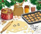 Preparing Christmas biscuits