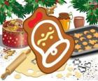 Christmas cookie as a bell