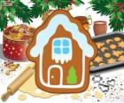 Christmas biscuit house shaped