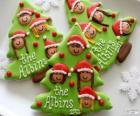 Christmas biscuits Christmas tree-shaped