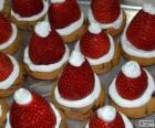 Delicious Santa Claus hats