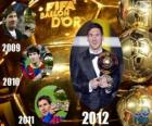 FIFA Ballon d'Or 2012 winner Lionel Messi