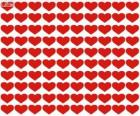 100 hearts, a hundred hearts to celebrate Valentine's Day, Saint Valentine's Day