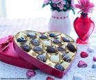 Heart-shaped chocolates box for Saint Valentine
