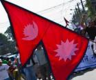 The Nepal flag