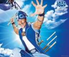 The hero of LazyTown, Sportacus, the healthy athlete