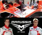 Marrussia F1 Team 2013, Jules Bianchi and Max Chilton