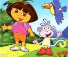 Dora the Explorer and her monkey friend Boots