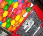 Vending machine of chewing gum balls, gumball machine