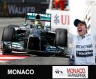 Nico Rosberg celebrates his victory in the Grand Prix of Monaco 2013