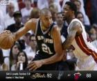 2013 NBA Finals, 1st Match, San Antonio Spurs 92 - Miami Heat 88