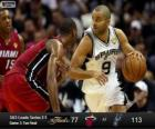 2013 NBA Finals, 3rd match, Miami Heat 77 - San Antonio Spurs 113