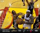 2013 NBA Finals, 6th game, San Antonio Spurs 100 - Miami Heat 103