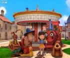 Main characters of the film Dougal - The Magic Roundabout