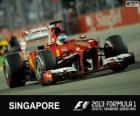 Fernando Alonso - Ferrari - 2013 Singapore Grand Prix, 2º classified