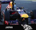 Sebastian Vettel celebrates his victory in the 2013 Japanese Grand Prix