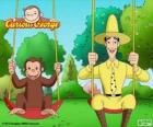 George the monkey with his friend Ted, the man in the Yellow Hat