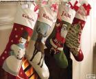 Christmas socks with decoration