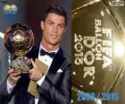 FIFA Ballon d'Or 2013 winner Cristiano Ronaldo