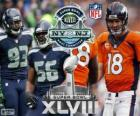 Super Bowl 2014. Seattle Seahawks vs Denver Broncos. MetLife Stadium, New Jersey, on February 2, 2014