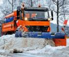 The snowplow truck