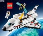 A Lego City space shuttle
