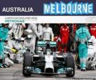 Nico Rosberg celebrates his victory in the 2014 Australian Grand Prix