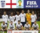 Selection of England, Group D, Brazil 2014