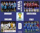Group D, Brazil 2014