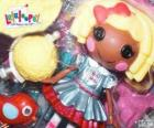 Dot Starlight from Lalaloopsy with her pet, a bird