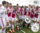 Ajax Amsterdam, champion of the Dutch football league Eredivisie 2013-2014
