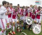 Ajax Amsterdam, champion of the Dutch football league Eredivisie 2013-2014