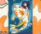 Fish and Mermaid, a drawing of Juliet