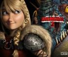 Astrid with her winged dragon Stormfly, How to Train Your Dragon 2