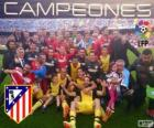 Atlético Madrid, champion of the spanish football league 2013-2014