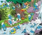 The Smurfs in the river