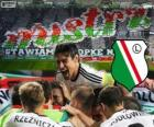 Legia Warsaw, champion of the Polish football league Ekstraklasa 2013-2014