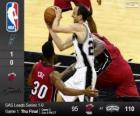 2014 NBA The Finals, 1st match, Miami Heat 95 - San Antonio Spurs 110