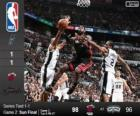 2014 NBA The Finals, 2nd match, Miami Heat 98 - San Antonio Spurs 96