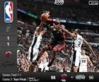 2014 NBA The Finals, 2nd match, Miami Heat 98 - San Antonio Spurs 96