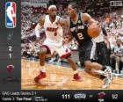 2014 NBA The Finals, 3rd match, San Antonio Spurs 111 - Miami Heat 92